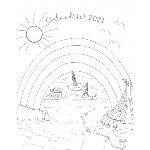 Calendrier 2021 à Colorier Calendrier à colorier 2021